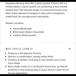 Anastasia Beverly Hills Makeup - BNIB Anastasia Liquid Lipstick Set